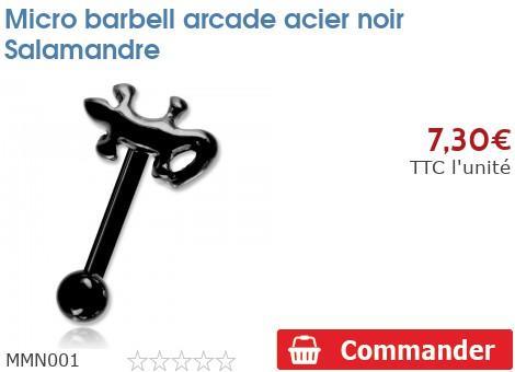 Micro barbell arcade acier noir Salamandre