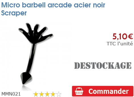 Micro barbell arcade acier noir Scraper