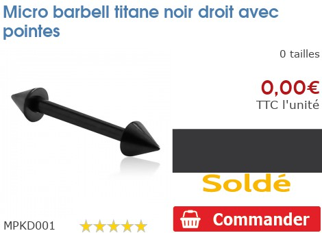 Micro barbell droit Blackline avec pointes