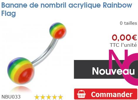 Banane de nombril acrylique Rainbow Flag