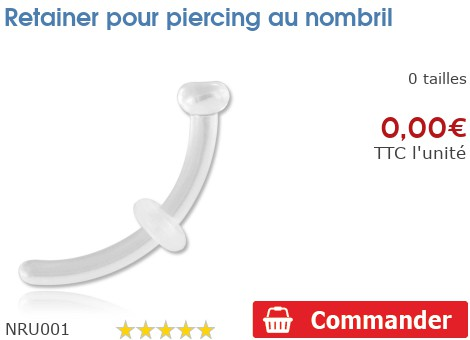 Retainer pour piercing nombril