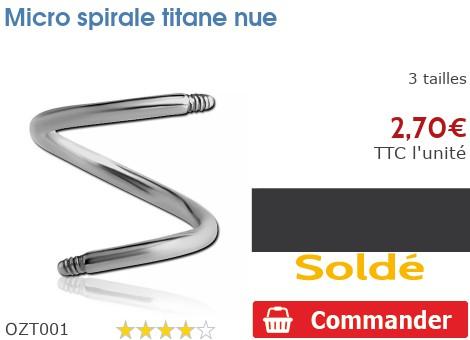 Micro spirale nue Titane pour 1.2mm