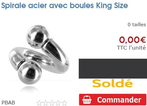 Spirale acier avec boules King Size
