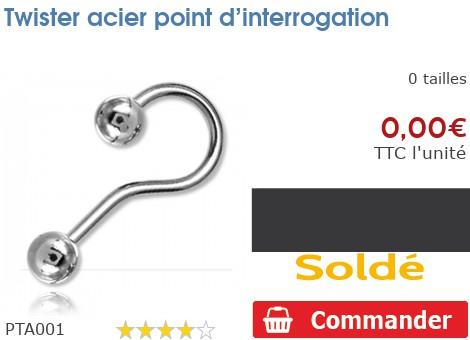 Twister acier point d'intérogation