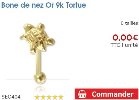 Bone de nez Or 9k Tortue