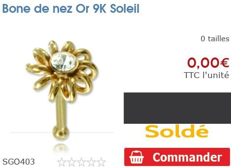 Bone de nez Or 9K Soleil
