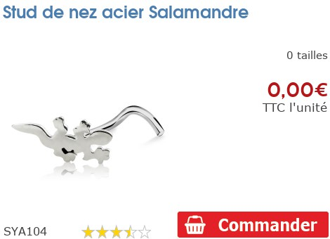 Stud de nez acier Salamandre