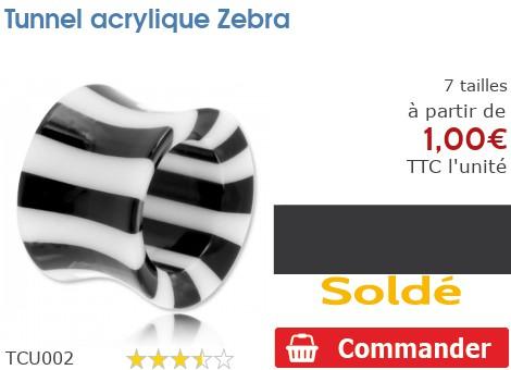 Tunnel acrylique Zebra