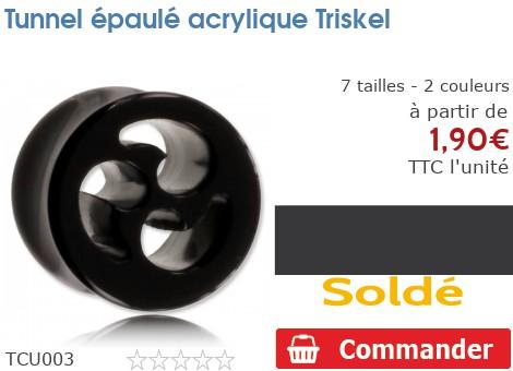 Tunnel épaulé acrylique Triskel