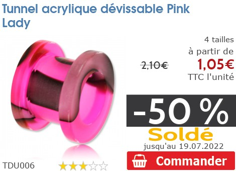 Tunnel acrylique dévissable Pink Lady