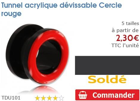 Tunnel acrylique dévissable Cercle rouge