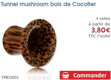 Tunnel épaulé mushroom bois de Cocotier