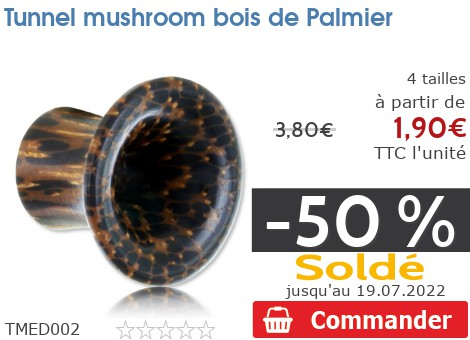 Tunnel épaulé mushroom bois de Palmier