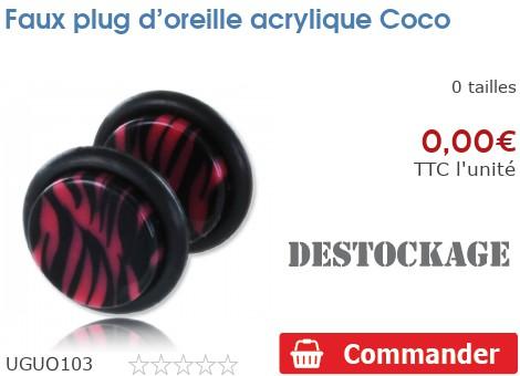Faux plug d'oreille acrylique Coco