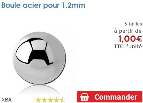 Boule acier pour 1.2mm