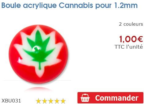 Boule acrylique Cannabis pour 1.2mm