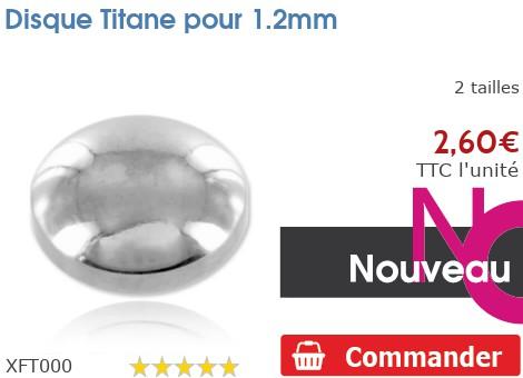 Disque Titane pour 1.2mm