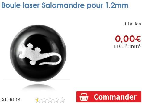 Boule laser Salamandre pour 1.2mm