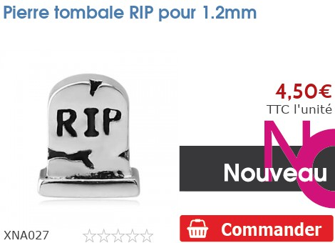 Pierre tombale RIP pour 1.2mm