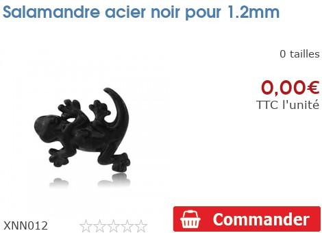Salamandre acier noir pour 1.2mm