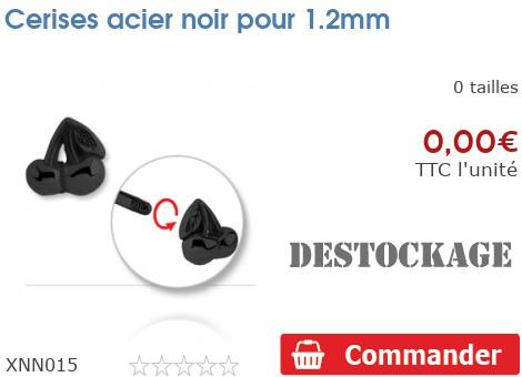 Cerises acier noir pour 1.2mm