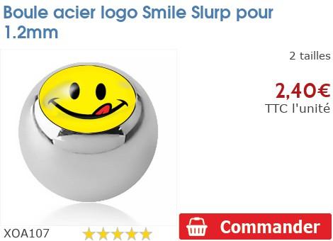 Boule acier logo Smiley Slurp pour 1.2mm