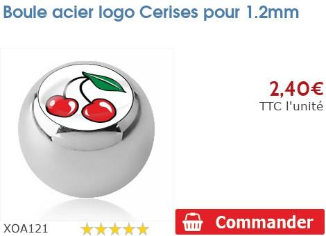 Boule acier logo Cerises pour 1.2mm