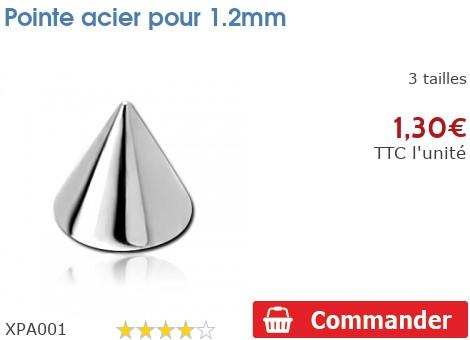 Pointe acier pour 1.2mm
