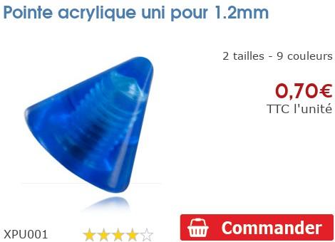 Pointe acrylique uni pour 1.2mm