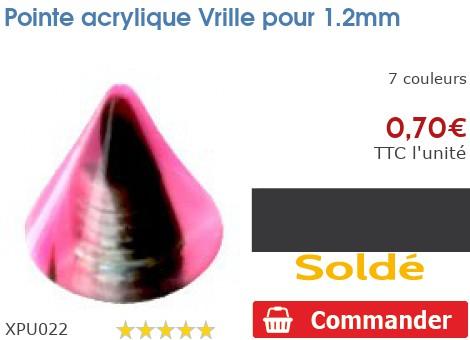 Pointe acrylique Vrille pour 1.2mm