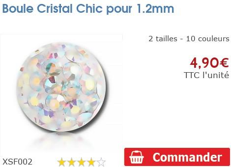 Boule Crystal Chic résinée pour 1.2mm