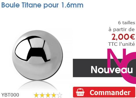 Boule Titane pour 1.6mm