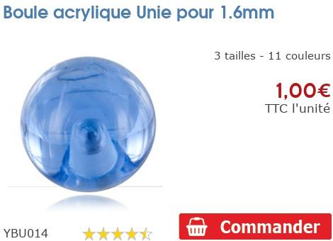 Boule acrylique Unie pour 1.6mm