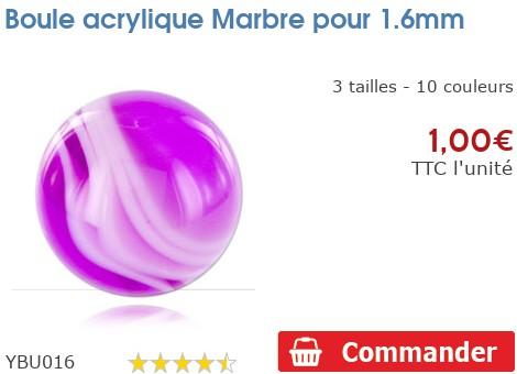 Boule acrylique Marbre pour 1.6mm