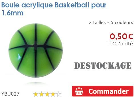Boule acrylique Basketball pour 1.6mm