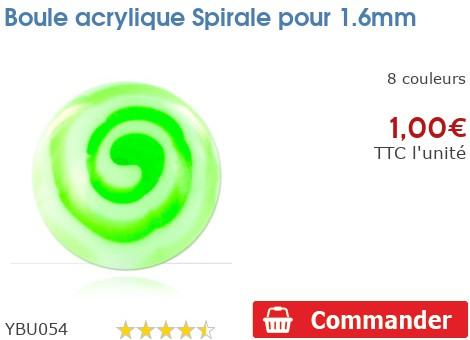Boule acrylique Spirale pour 1.6mm