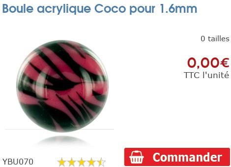 Boule acrylique Coco pour 1.6mm
