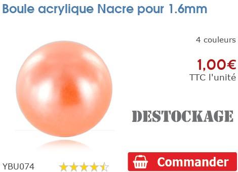 Boule acrylique Nacre pour 1.6mm