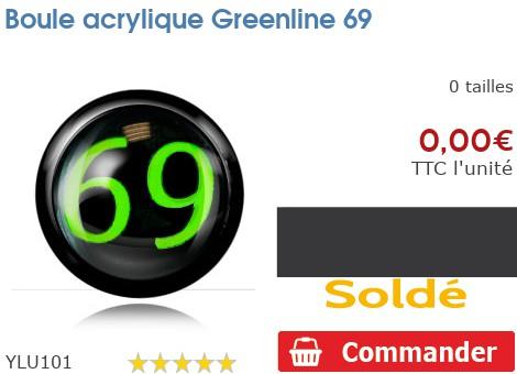 Boule acrylique Greenline 69