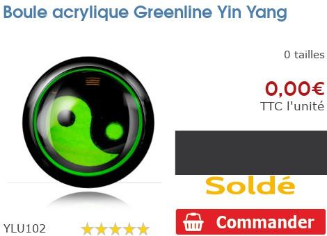Boule acrylique Greenline Yin Yang