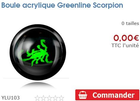 Boule acrylique Greenline Scorpion