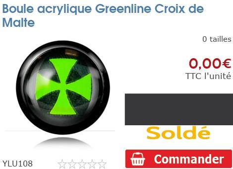 Boule acrylique Greenline Croix de Malte