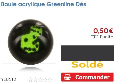 Boule acrylique Greenline Dés