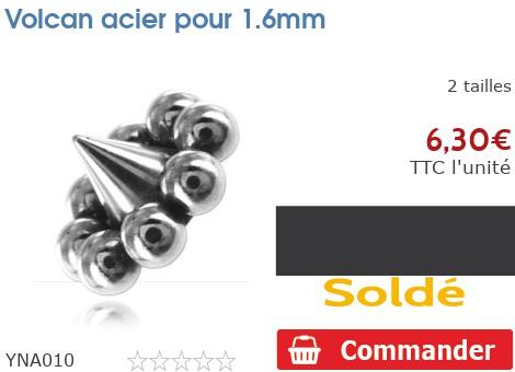 Volcan acier pour 1.6mm