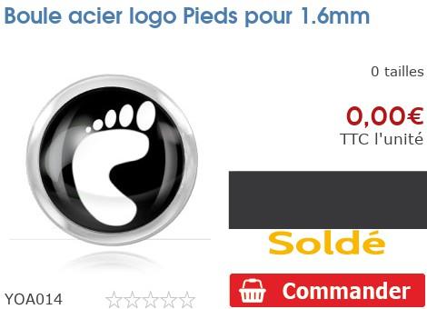 Boule acier logo Pieds pour 1.6mm