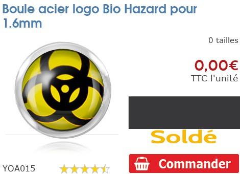 Boule acier logo Bio Hazard pour 1.6mm