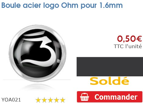 Boule acier logo Ohm pour 1.6mm