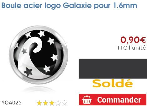 Boule acier logo Galaxie pour 1.6mm