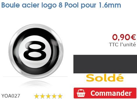 Boule acier logo 8 Pool pour 1.6mm