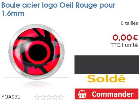 Boule acier logo Oeil Rouge pour 1.6mm